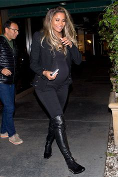 Ciara Style the bump: celebrity maternity style inspiration Yummy Blog Maternity Shop