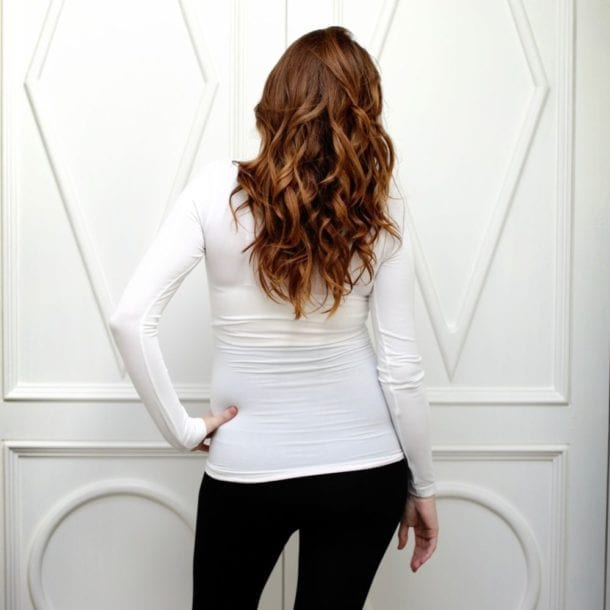 The Bamboo Long Sleeve Tank Top White Shop Yummy Maternity