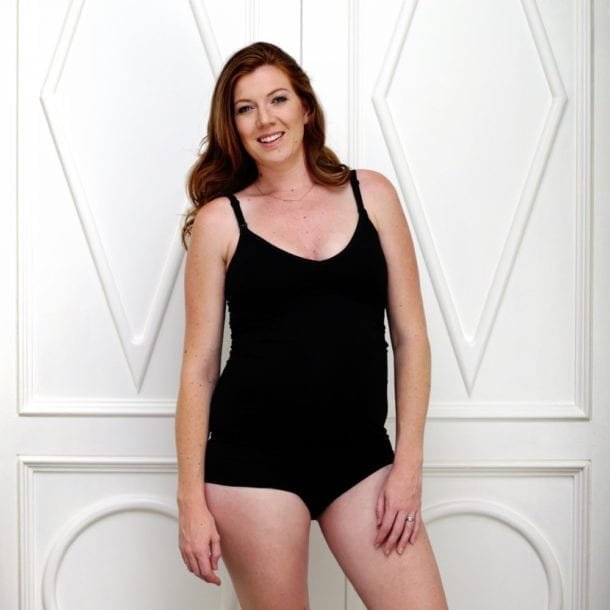 The Bamboo Nursing Cami Black Yummy Maternity Shop